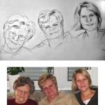 3-Generationen-Portrait 50x28cm